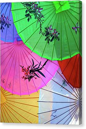 Chinese Parasols Canvas Print