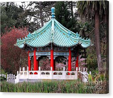 Chinese Pavilion Canvas Print by Wingsdomain Art and Photography
