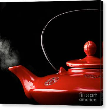 Chinese Red Teapot Canvas Print