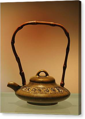 Oriental Canvas Print - Chinese Teapot - A Symbol In Itself by Christine Till