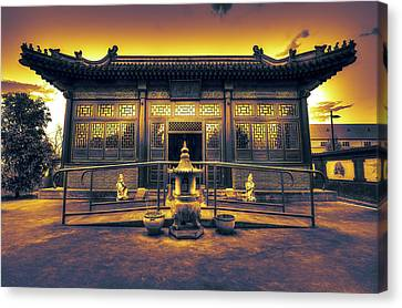Chinese Temple Canvas Print by Wayne Sherriff