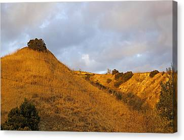 Canvas Print featuring the photograph Chino Hills And Clouds by Viktor Savchenko