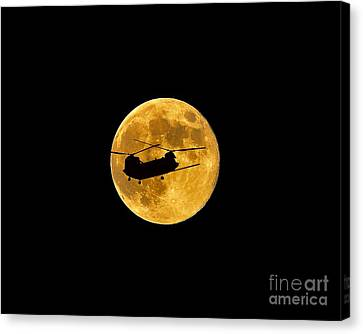 Chinook Moon Color .png Canvas Print