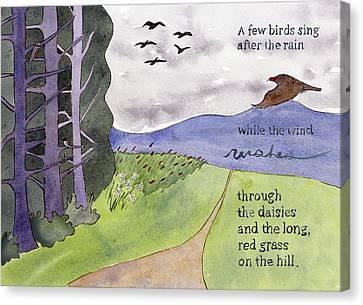 Chip Ross Park Walk Canvas Print by Alexandra Schaefers