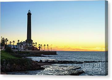 Chipiona Lighthouse Cadiz Spain Canvas Print