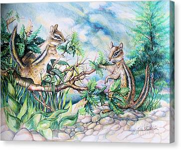 Chipmunks Canvas Print