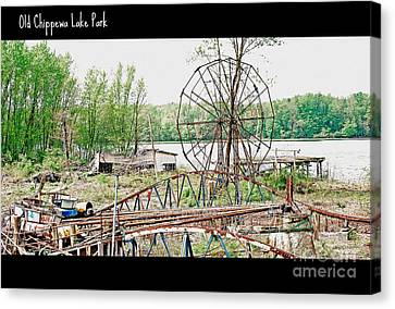 Chippewa Lake Park Now 2 Canvas Print by Lila Fisher-Wenzel