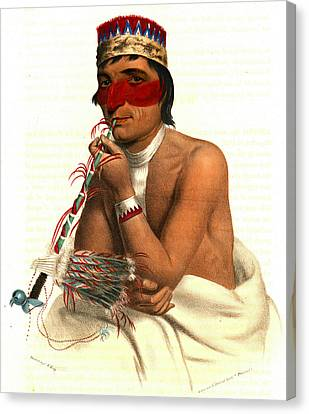 Canvas Print featuring the photograph Chippeway Chief 1836 by Padre Art