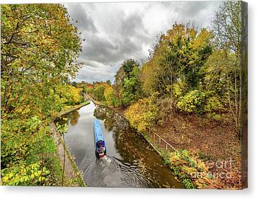 Chirk Aqueduct Autumn Canvas Print by Adrian Evans