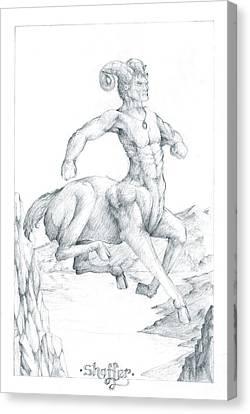 Chiron The Centaur Canvas Print by Curtiss Shaffer