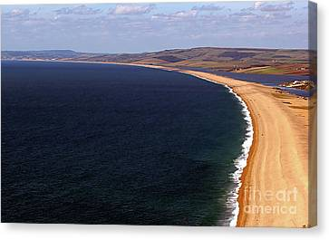 Chesill Beach Dorset Canvas Print by Stephen Melia