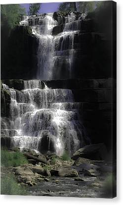 Chittenango Falls Canvas Print by DigiArt Diaries by Vicky B Fuller