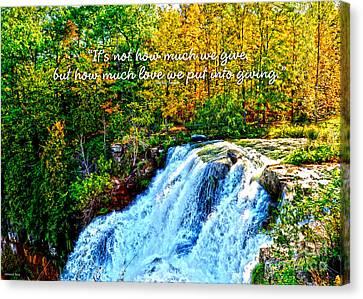 Chittenango Falls, Ny Mother Teresa  Canvas Print by Diane E Berry