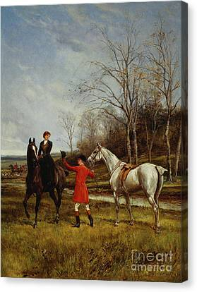 Bay Horse Canvas Print - Chivalry by Heywood Hardy