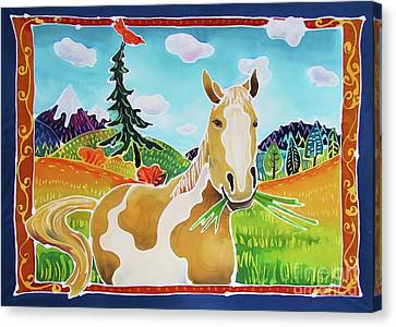 Chloe The Wild Mustang Canvas Print by Harriet Peck Taylor