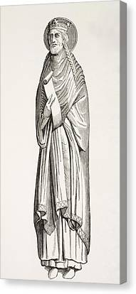 Chlothar I, Or Clotaire, Born C. 497 Canvas Print by Vintage Design Pics