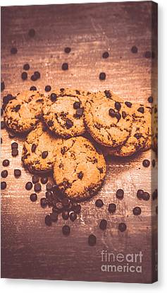Choc Chip Biscuits Canvas Print by Jorgo Photography - Wall Art Gallery