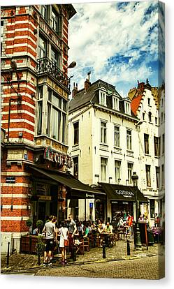 Bruxelles Canvas Print - Chocolate And Beer In Brussels by Georgia Fowler