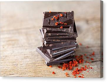 Stacked Canvas Print - Chocolate And Chili by Nailia Schwarz