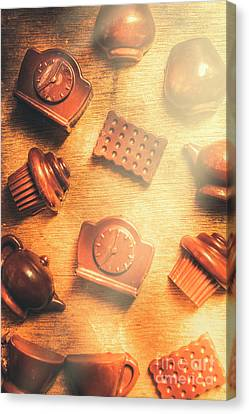 Foodstuffs Canvas Print - Chocolate Cafe Background by Jorgo Photography - Wall Art Gallery
