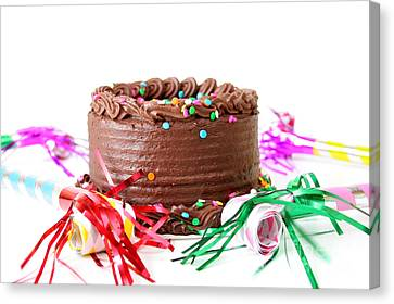 Chocolate Cake Canvas Print by Darren Fisher