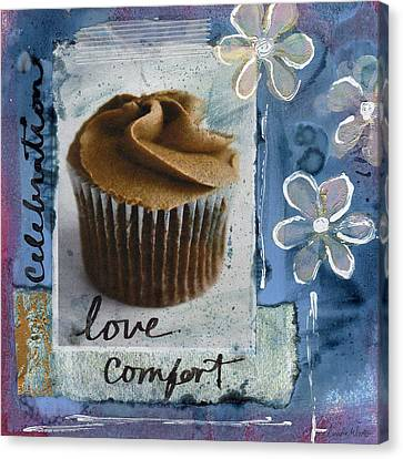 Chocolate Cupcake Love Canvas Print by Linda Woods