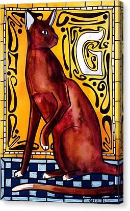 Chocolate Delight - Havana Brown Cat - Cat Art By Dora Hathazi Mendes Canvas Print