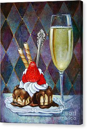 Chocolate Drenched Eclair  Canvas Print