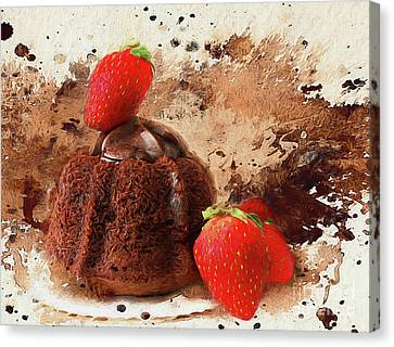 Canvas Print featuring the photograph Chocolate Explosion by Darren Fisher