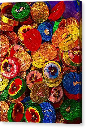 Chocolate Flowers Canvas Print by Cadence Spalding