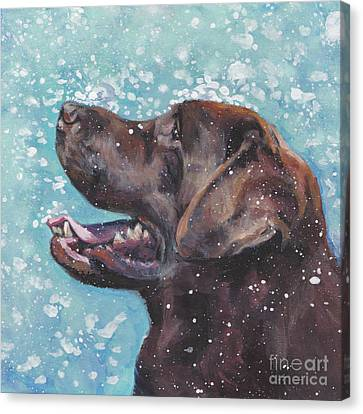 Chocolate Labrador Retriever Canvas Print by Lee Ann Shepard