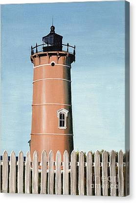 Chocolate Lighthouse Canvas Print by Mary Rogers