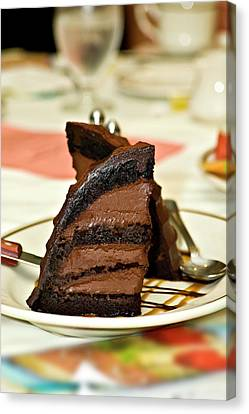 Chocolate Mousse Cake Canvas Print by Carolyn Marshall