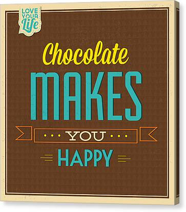 Chocolate Canvas Print by Naxart Studio
