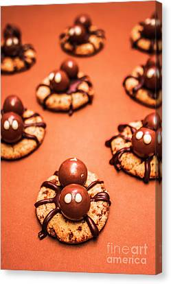 Chocolate Peanut Butter Spider Cookies Canvas Print
