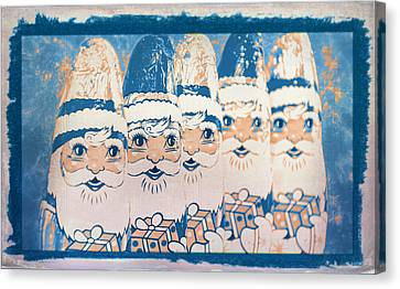 Canvas Print featuring the photograph Chocolate Santas by Bellesouth Studio