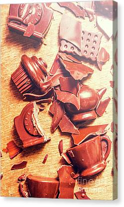 Chocolate Tableware Destruction Canvas Print by Jorgo Photography - Wall Art Gallery