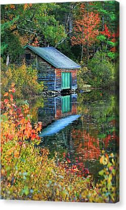 Chocorua Boathouse Canvas Print
