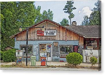 Choctaw Bluff Country Store Canvas Print by Ericamaxine Price