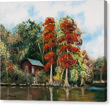 Choctawhatchee River Camp Canvas Print
