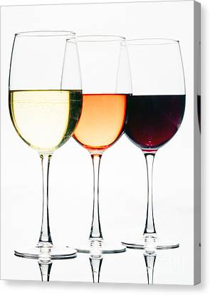 Choice Of Wines Canvas Print by George Oze