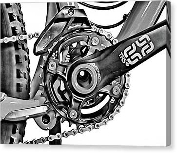 Canvas Print featuring the digital art Choice Transport 1 Bw by Wendy J St Christopher