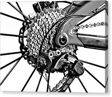 Canvas Print featuring the digital art Choice Transport 2 Bw by Wendy J St Christopher