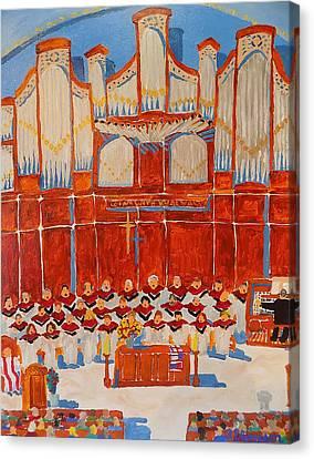 Choir And Organ Canvas Print by Rodger Ellingson