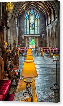 Choir Lamps Canvas Print by Adrian Evans