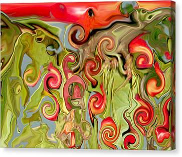 Chokecherry Abstract  Canvas Print by Michelle  BarlondSmith
