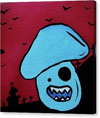 Chomping Zombie Mushroom Canvas Print