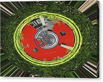 Choo Choo Caboose In The Round Canvas Print by Marian Bell