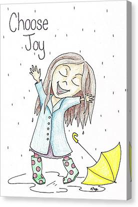 Choose Joy Girl Canvas Print by Emily Page