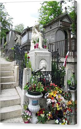 Chopin Grave Paris Canvas Print by Keith Stokes